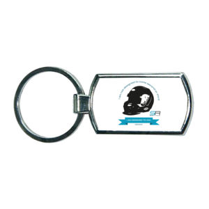 Simply Race Not Designed Oval Metal Keyring Thumbnail