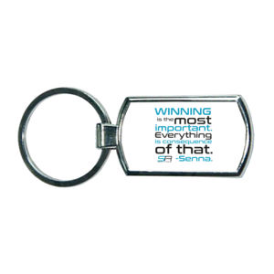 Simply Race Winning Metal Oblong Keyring Thumbnail