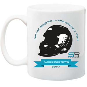 Simply Race Senna Winning Ceramic 10oz Mug Thumbnail